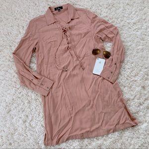 Lulus Pullover Ling Sleeve Shirt Dress